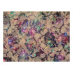 Pretty Lace Roses Poster