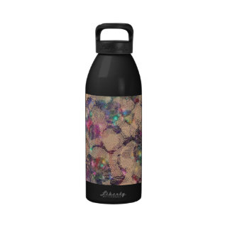 Pretty Lace Roses Water Bottles