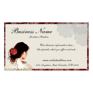 Pretty Lace Woman Design Business Cards