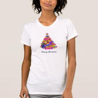 Pretty Ladies Christmas Tree Artistic Water Color Shirts