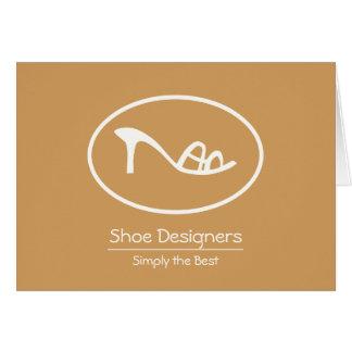 Pretty Ladies Shoe Logo Card