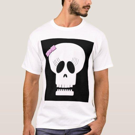 Pretty Lady Skull T-Shirt