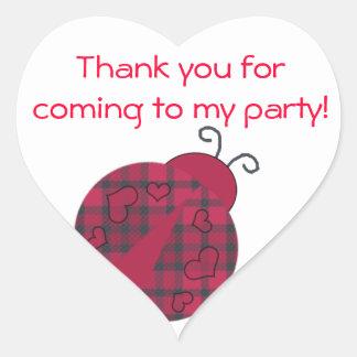 Pretty Ladybug Birthday Party Favor Stickers