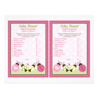 """""""Pretty Ladybug w/ Polka Dots"""" Price is Right Game Flyer"""