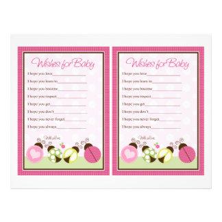 """Pretty Ladybug w/ Polka Dots"" Wishes for Baby Flyer"