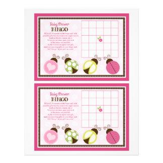 "Pretty Ladybugs ""Baby Shower Bingo"" sheet 8.5"" X 11"" Flyer"