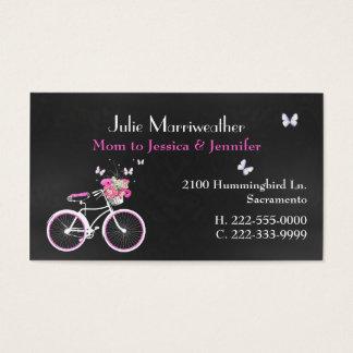 Pretty Lady's Bicycle Custom Mommy Card
