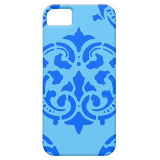 Pretty Large Blue on Blue Damask Vintage iPhone 5 Covers