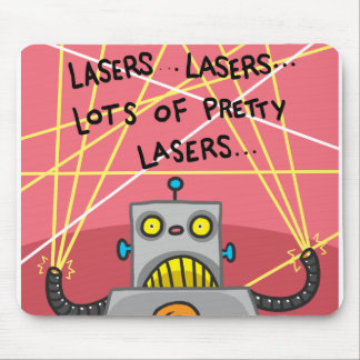 Pretty Lasers Mouse Pad