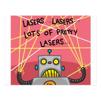 Pretty Lasers Postcard