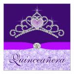 Pretty Lavender Purple Quincenera Invitation
