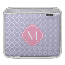Pretty Lavender Quatrefoil Pattern Sleeve For iPads