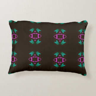 Pretty Lavender Teal Modern Pattern Accent Pillow