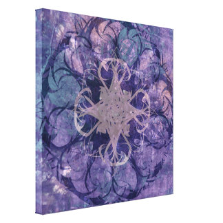 Pretty Lavender Tribal Celtic Large Canvas Print