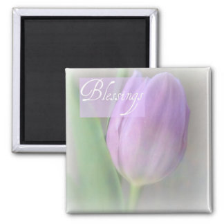 Pretty Lavender Tulip Blessings Magnet