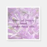 Pretty Lavender Wild Flowers Garden Party Paper Napkin