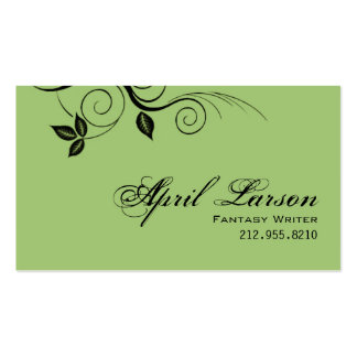 Pretty Leaves 1 - Writer Business Card template