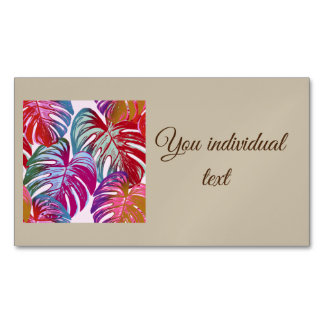 pretty leaves B Business Card Magnet