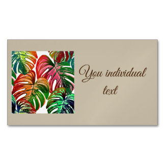 pretty leaves D Business Card Magnet
