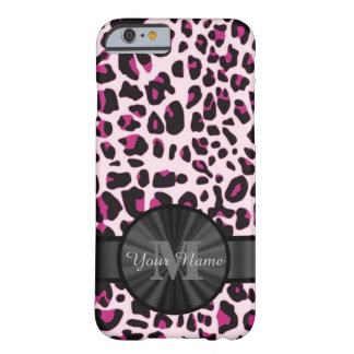 Pretty leopard animal print monogramed barely there iPhone 6 case