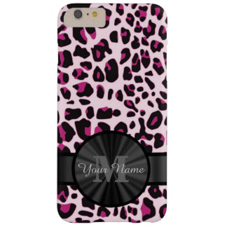 Pretty leopard animal print monogramed barely there iPhone 6 plus case