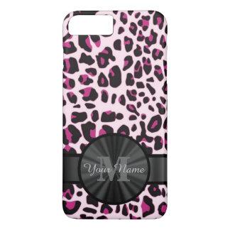 Pretty leopard animal print monogramed iPhone 8 plus/7 plus case