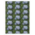 Pretty Light Blue Hydrangea Flowers Tablecloth