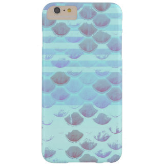 Pretty Light Blue Striped Mermaid Fish Scales Barely There iPhone 6 Plus Case