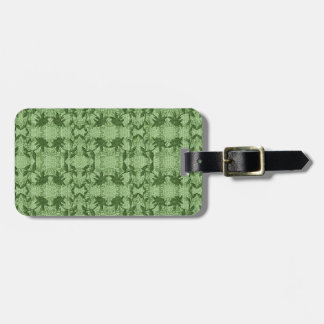 Pretty Light Green Lace Pattern Luggage Tag