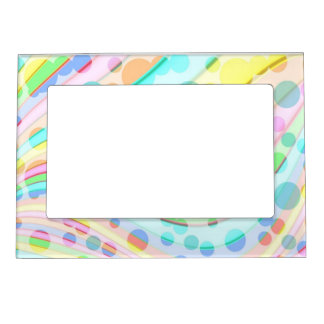 Pretty Light Pastels Magnetic Photo Frame. Magnetic Frame