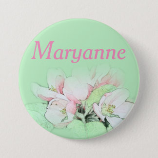 Pretty light pink apple flower name pin
