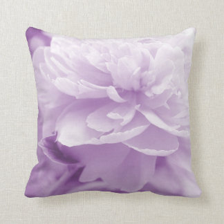 Pretty Light Purple Peony Throw Pillow