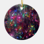 Pretty Lights Impression Double-Sided Ceramic Round Christmas Ornament