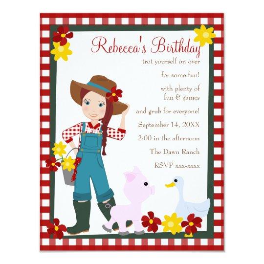 Pretty Lil' Farmer Card