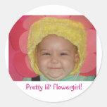 Pretty lil' Flowergirl! Classic Round Sticker