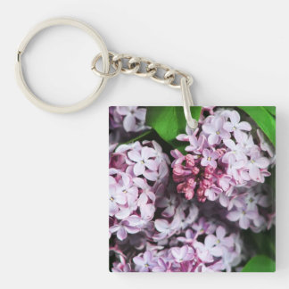 Pretty Lilac Bouquet Single-Sided Square Acrylic Keychain