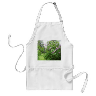 Pretty Lilac Bush Adult Apron