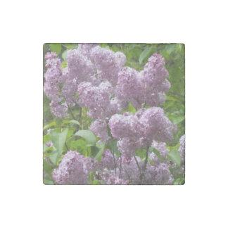 Pretty Lilac Bush Stone Magnet