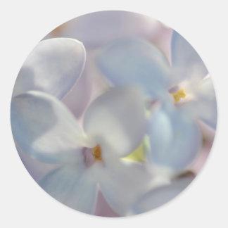 Pretty Lilac Classic Round Sticker