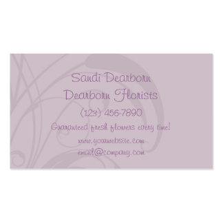 Pretty Lilac Floral Customizable Business Card Templates