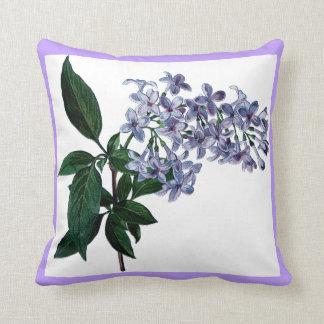 Pretty Lilac Flowers Purple Decorative Throw Pillow