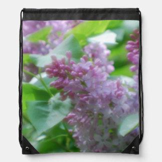 Pretty Lilacs Drawstring Bag