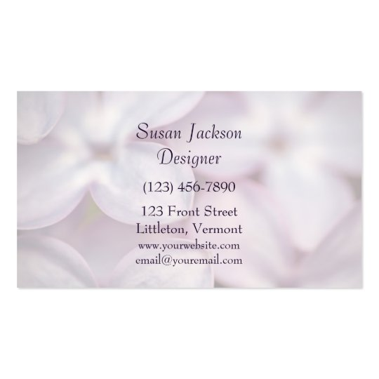 Pretty Lilacs Template Business Card
