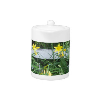 Pretty Lilies and  Mixed Flowers Teapot