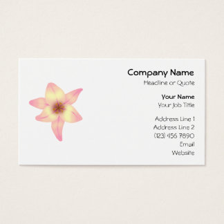Pretty Lily Flower. Business Card