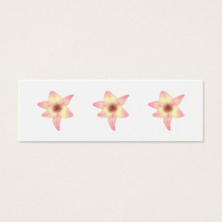 Pretty Lily Flower. Mini Business Card