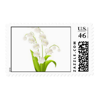Pretty Lily of the Valley Postage Stamps