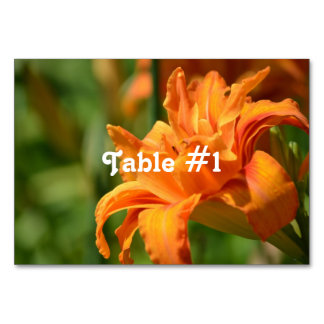 Pretty Lily Table Card