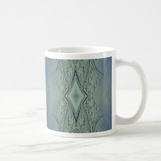 Pretty Lime Blue Artistic Pattern Coffee Mug