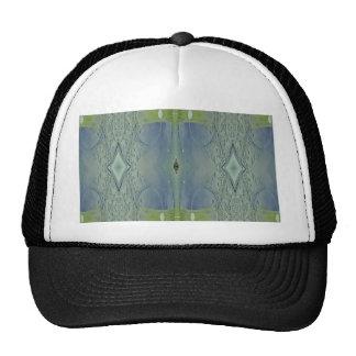 Pretty Lime Blue Artistic Pattern Trucker Hat